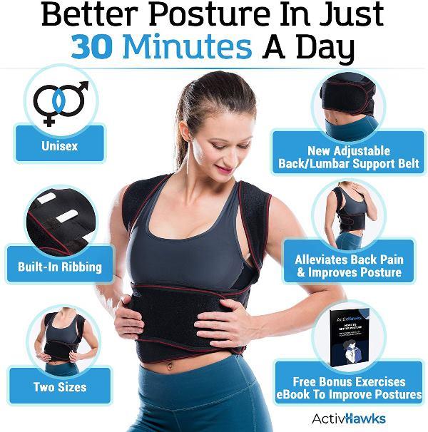 correcteur posture hommes femmes sur actoum