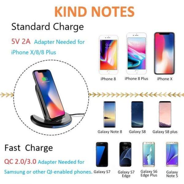 chargeur sans fil smartphone qi actoum conakry