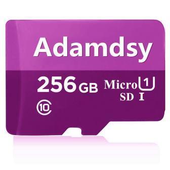 Carte Micro SD 256 Go Adamdsy Classe 10