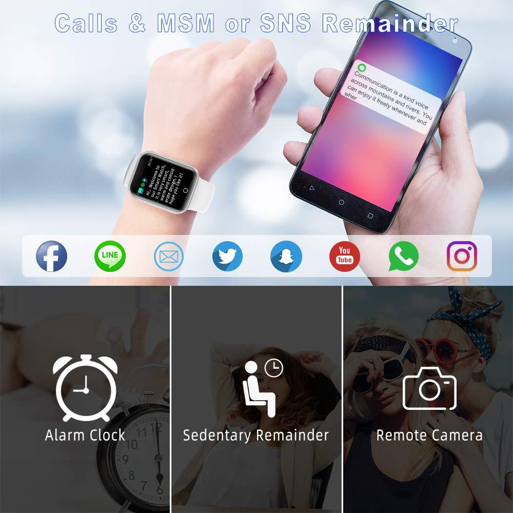 Montre Connectée Vicsainteck 1.4 Pouce Bluetooth Smartwatch Femmes Homme Etanche IP68 Bracelet Connecté Cardio Tensiomètre Podometre Enfant Sport