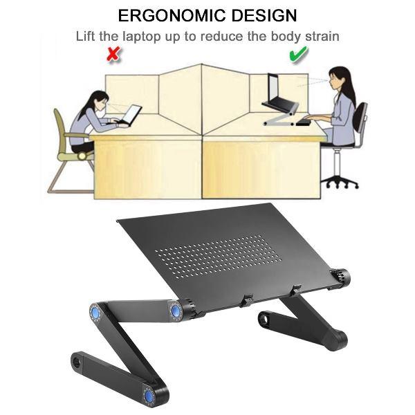 Support Table De Lit Pliable Inclinable Pour Pc Ordinateur