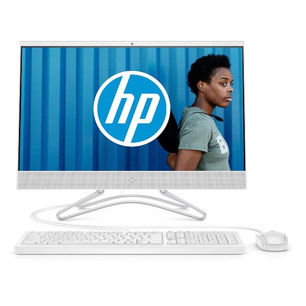HP 24 f0079nf Ordinateur all in one 23.8 FHD IPS Blanc Intel Core i3