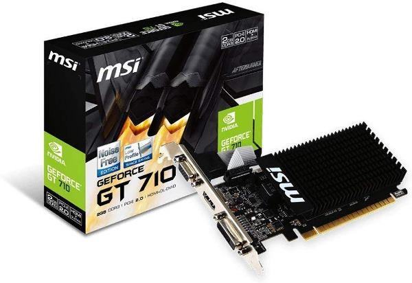 MSI GT 710 2GD3H LP Carte Graphique Nvidia